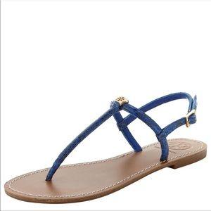 blue snakeskin sandals